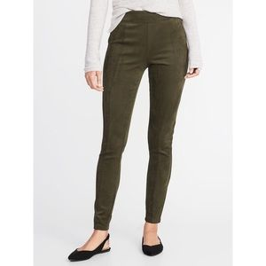 Old Navy High-Rise Stevie Faux Suede Legging Pants